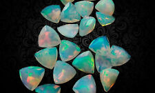 Natural Ethiopian Opal 7mm Trillion Cut 1 Pcs Multi Fire Loose Gemstone EO-43
