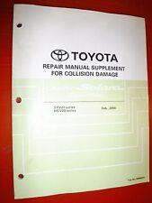 2000 TOYOTA CAMRY SOLARA CONVERTIBLE FACTORY COLLISION DAMAGE REPAIR MANUAL