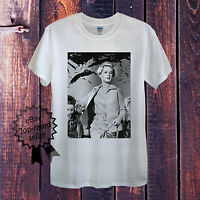 Hitchcock Birds T-Shirt White Grey Men Unisex Women Fitted Top Horror Classic UK