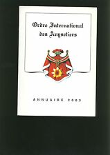 Ordre International Des Anysetiers - Annuaire 2003