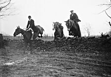 "1921 Photo, Fox Hunt, Hunting, Horse, Equestrian, antique, 14""x10"" print"