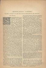 1888 Civil War Lincoln Fremont Bull Run Secession Nicolay Hay VA History article