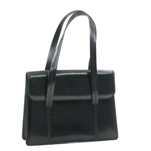 GUCCI Patent Leather Hand Bag Navy Auth rd1067
