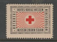 Germany Red Cross Revenue Fiscal Stamp Cinderella- mnh gum 5-14