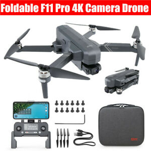 F11 Pro Foldable 4K HD Camera RC Drone Brushless Wifi FPV GPS Quadcopter Gift