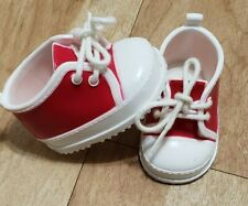 """Shoes for Amazing Ally 18"""" doll from Playmates White Red Lace Up Sneakers"""