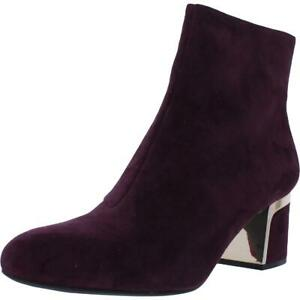 DKNY Womens Corrie Purple Suede Dress Boots Shoes 8.5 Medium (B,M) BHFO 6653