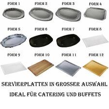 Servierplatten Alu / Pappe rund, oval, eckig Einweg Buffetplatte Partyplatte