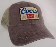 Hat Cap Coors Banquet Beer Khaki Mesh Brown Low Crown OC