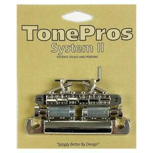 TonePros ABR1 Tune-O-Matic Bridge & Aluminum Tailpiece Set LPV02-N Nickel