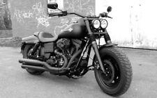 FAT BOB Doppellicht -Kit  FXDF Harley Davidson  Doppel Scheinwerfer Einsätze TÜV