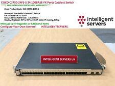 CISCO C3750-24FS-S 24 100BASE-FX Ports Catalyst Switch  -  WS-C3750-24FS-S