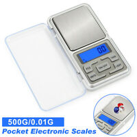 Portable Pocket Mini LCD Digital Scale Jewelry Balance Weight Gram 500gx0.01g
