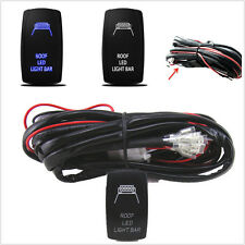 Car 12V Wiring Harness Blue Roof LED Light Bar Laser Rocker Switch On/Off Relay