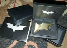 Noble Collection Batman Batarang Magnetic Folding Money Clip Bronze Metal NEW