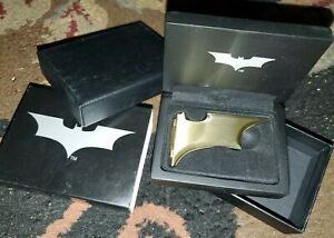 Noble Collection Batman Batarang Magnetic Folding Money Clip Bronze Metal NEW