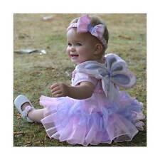 Girls Baby Toddler Fairy Angel Wings Princess Tutu Fancy Dress Costume 18-36mths