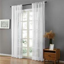 Sheer Window Curtain Panels White Long Bedrooms Living Rooms Soft Elegant Tulle