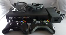 Xbox 360 Elite Black Console 120GB HDD, 2 Wireless Controllers, Cables, Tested