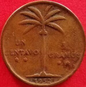 DOMINICAN REPUBLIC 1 CENTAVO 1952 Dominicana Dominikanische Dominicaine Dom Rep
