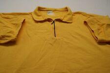 Great Land Mens 1/4 Zip S/S XL Yellow Casual Polo Shirt T12 Free Shipping