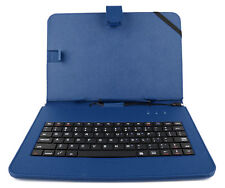 Blue Faux Leather Protective Case Cover With Micro USB Keyboard for Chuwi Hi10