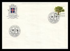Iceland 1985 FDC, Centenary of the Horticultural Society of Iceland. Lot # 1.
