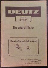 Deutz Schlepper D40 S + D50 Ersatzteilliste