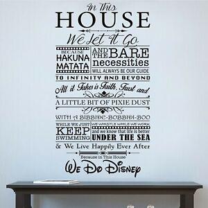 Home Decor Vinyl Graphic Kit - Walt Disney Inspired Mural - Easy Apply