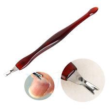 Nail Art Tips Pusher Pedicure Cuticle Nipper Remover Manicure Set Plastic Handle