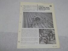 International 55 Row Crop Special Mounted Chisel Plow Sales Brochure 17 and 21ft