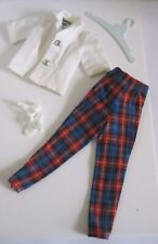Vintage 1960's Ideal Tammy ~ Plaid Slacks ~ White Blouse ~ White Sandals