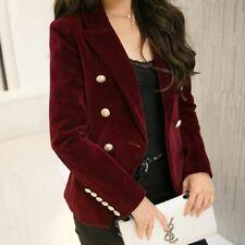 New Slim gold velvet small suit jacket leisure blazer/ velvet metal button long