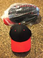 Lot of 12 blank vintage Snapbacks USA (Red/Black) Sports Caps Brand New!