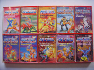 MC Kassetten Sammlung He-Man Masters of the Universe 1-10 EUROPA 9 8 7 6 5 4 3 2