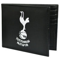 TOTTENHAM HOTSPUR FC CREST EMBROIDERED PU LEATHER MONEY WALLET PURSE XMAS GIFT