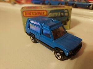 Matchbox Superfast #37 Matra Rancho Blue Body With 1981 L Type Box -