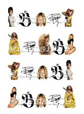 Beyonce Nail art decals (water decals)  20 per sheet