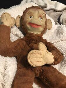 Gund 1942 Stuffed Monki Monkey Hard Face Zipper Pocket