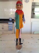 Vintage en bois Bâton de marionnettes. en bois jouet poupée. Punch et Judy. marionnette