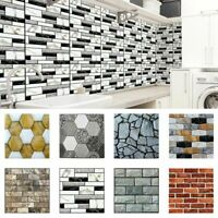 3D Tile Sticker Kitchen Bathroom DIY Decal Self Adhesive Waterproof Home Decor