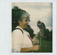 BIRD LADY Woman FOUND PHOTO Color FREE SHIPPING Original Snapshot VINTAGE 711 20