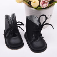"""BLACK Lace-Up Boot DOLL Shoes For 18""""  DOLL Toy Tackle Pro"""