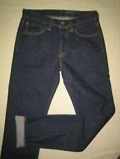 Levi's 501 Skinny slim cut jeans, dark, indigo rinse denim, super cut, 29W/33L.