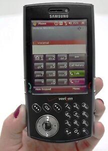Samsung i760 Black Verizon Slider Cell Phone Touchscreen GPS Bluetooth Qwerty 3G