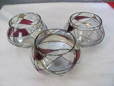Set of 3 Retired Partylite Mosaic Calypso Tealight Candle Holders