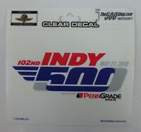 2018 Indianapolis 500 102ND Running Event Collector Decal Indy Brickyard IndyCar