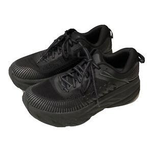 Hoka One One Bondi 7 Womens Size 8.5 Wide Black! WORN LESS THAN 15 MILES!