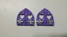 Windows for fairy house, Fairy door, mouse door, Gnome door