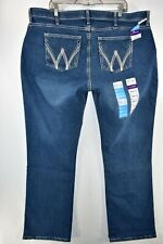 New Wrangler Q Baby Cool Vantage Riding Blue Jeans Womens Plus Size 22W x 34